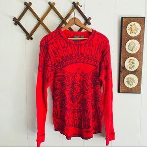 Armani Exchange Eagle Graphic Thermal Cotton Shirt